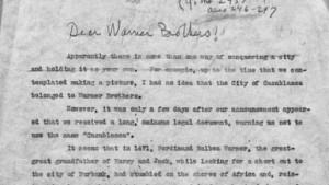 la lettera di Groucho ai fratelli Warner