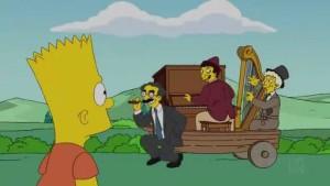 """un fotogramma dell'episodio """"Fratello di Bart, dove sei?"""" de I Simpson"""