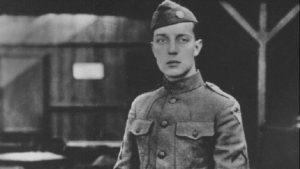 Keaton in uniforme durante la Prima guerra mondiale