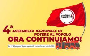 """A Napoli la quarta assemblea di """"Potere al popolo!"""""""