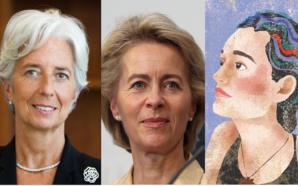 Da sinistra: Christine Lagarde, Ursual von der Leyer, Carola Rackete